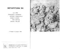 Locandina mostra, Metapittura 84, Studio F34, Roma, 1984