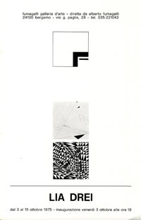 Catalogo, Mostra personale di Lia Drei, Galleria Fumagalli, Bergamo, 1975