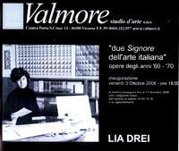 Locandina mostra personale Lia Drei, Galleria Valmore Studio d'Arte, Vicenza, 2008